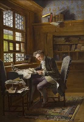 Library Painting - In The Library by Celestial Images