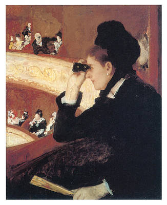 Woman In Black Dress Painting - In The Loge by Mary Cassatt