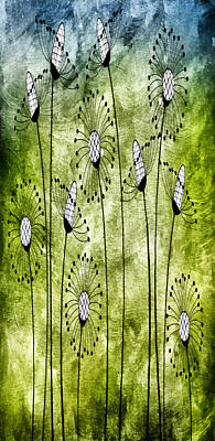 Free Mixed Media - In The Meadow 1 by Angelina Vick