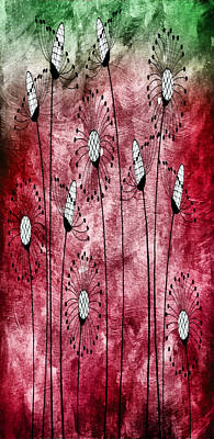 Free Mixed Media - In The Meadow 3 by Angelina Vick