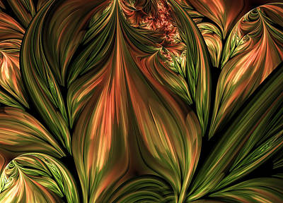 Algorythm Digital Art - In The Midst Of Nature Abstract by Georgiana Romanovna