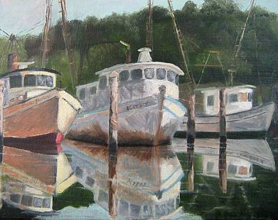Susan L Richardson Art Painting - In The Mirror At Mill Pond by Susan Richardson