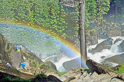 Digital Art - In The Mist At Vernal Fall Yosemite National Park by Steven Barrows