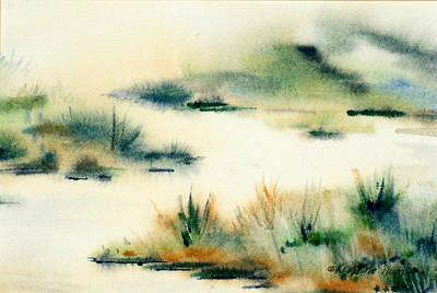 Kristine Painting - In The Mist by Kristine Plum