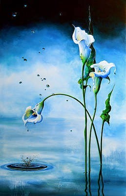 Calla Lily Wall Art - Painting - In The Mist Of A Memory by Hanne Lore Koehler