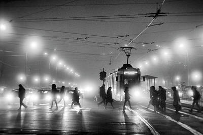 Tram Photograph - In The Mist by Vrabiuta Albert Adrian