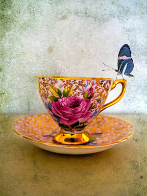 Gilt Cup Photograph - Rosie Lee by Gillian Singleton