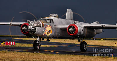 In The Mood - B-25 Art Print by Steven Reed