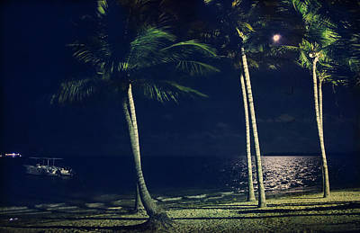 Caribbean Sea Digital Art - In The Moonlight by Laurie Search