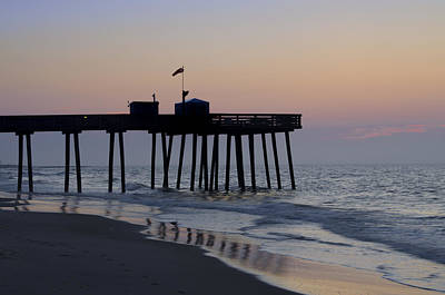 In The Morning On The Beach Ocean City Art Print by Bill Cannon