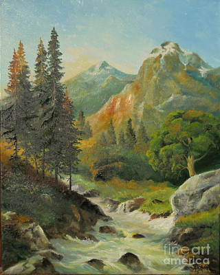 Painting - In The Mountains  by Sorin Apostolescu