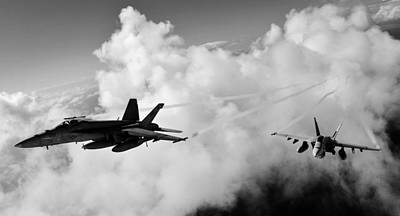 F-18 Photograph - In The Nest by Benjamin Yeager
