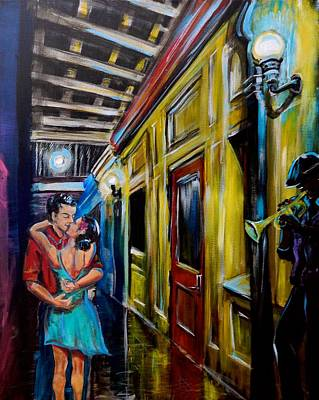 Romantik Painting - In The Night Air by Gretchen  Smith