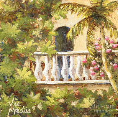 Painting - In The Oasis With Gold Leaf By Vic Mastis by Vic  Mastis