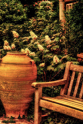 Earthenware Urn Photograph - In The Old English Garden by Julie Palencia