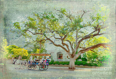 Live Oak Trees Painting - In The Olde Days by Dan Carmichael