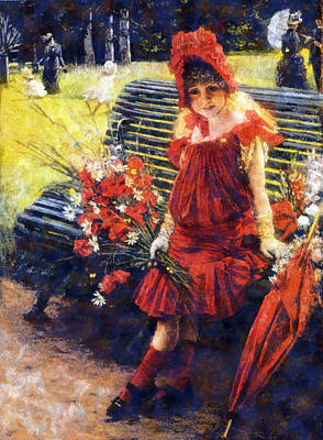 The Umbrellas Digital Art - In The Park by James Tissot