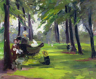 In The Park  Print by Mary C Greene