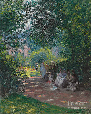 In The Park Monceau Print by Cluade Monet