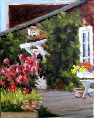 In The Patio Art Print by Char Wood