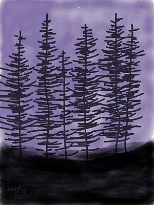 Digital Art - In The Pines by Stacy C Bottoms