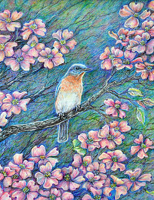 Bluebird Drawing - In The Pink by Gail Butler