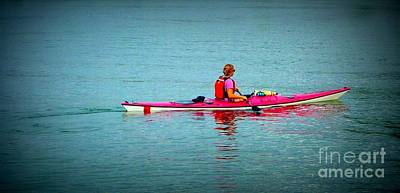 Photograph - In The Pink Kayaker by Susan Garren