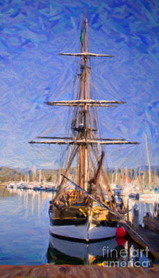 Boat Painting - In The Port by David Millenheft