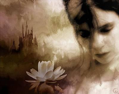 Woman Daydreaming Digital Art - In The Realm Of Dreams by Gun Legler