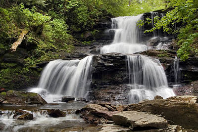 Photograph - In The Refreshing Spray Of Tuscarora Falls by Gene Walls