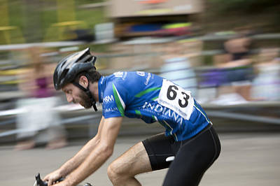 Velodrome Photograph - In The Saddle by Mark Milar