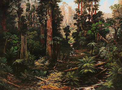Victoria Painting - In The Sassafras Valley Victoria by Mountain Dreams