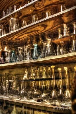 Glassware Digital Art - In The Scientist's Closet by Dan Stone