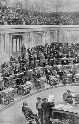 In The Senate, March 25, 1898--reading Art Print by Everett