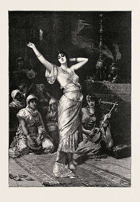 In The Seraglio, 1893 Engraving. Nathaniel Sichel Art Print by Sichel, Nathaniel (1843-1907), German