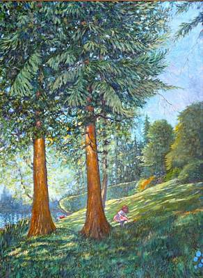 Art Print featuring the painting In The Shade by Charles Munn