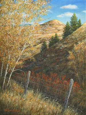 Art Print featuring the painting In The Shadow Of Belt Butte by Kim Lockman