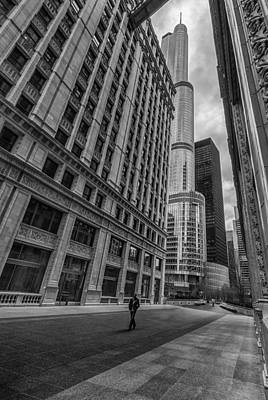 View. Chicago Photograph - Wrigley Building And Trump Tower by Mike Burgquist
