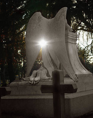 Seraphim Angel Photograph - In The Shadow Of His Light by Peter Piatt