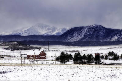 Art Print featuring the photograph In The Shadow Of Pike's Peak by Kristal Kraft