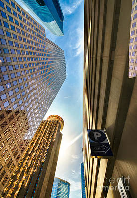 City Scenes Photograph - In The Shadow Of The Skyline District by Dee Zunker