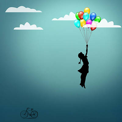 Balloons Digital Art - In The Sky  by Mark Ashkenazi