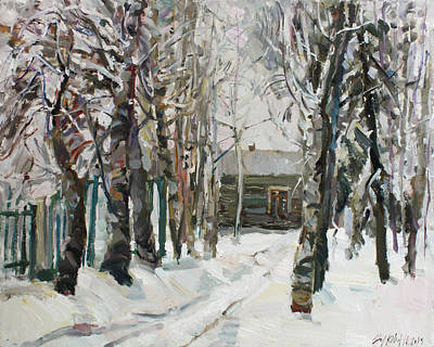 Painting - In The Snowy Silence by Juliya Zhukova