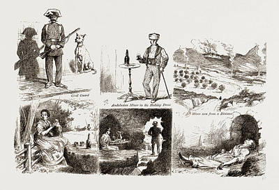 Cavern Drawing - In The Spanish Black Country, In An Andalusian Lead Mining by Litz Collection