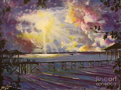 Lake Waccamaw Painting - In The Still Of A Dream by Stefan Duncan