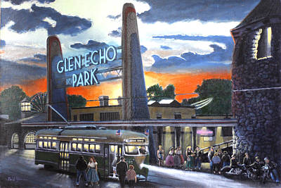 Glen Echo Park Painting - In The Still Of The Night by David Zimmerman