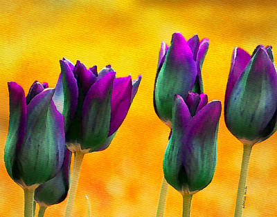 Tulips Watercolor Wall Art - Painting - In The Sunshine by Moon Stumpp