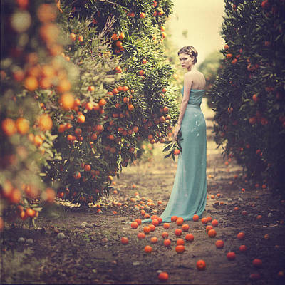In The Tangerine Garden Art Print by Anka Zhuravleva