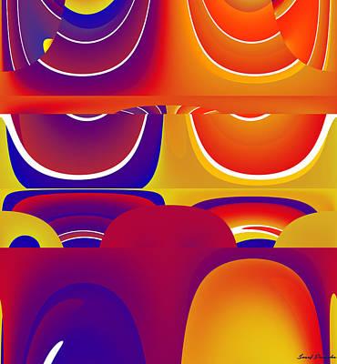 Rhythm And Blues Digital Art - In The Theatre . by Sir Josef - Social Critic -  Maha Art