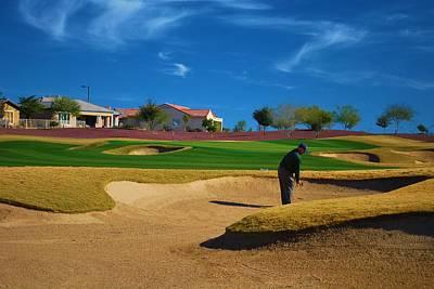 Arizona Golfer Photograph - In The Trap by Richard Jenkins